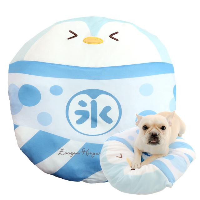 小型犬・猫用 ひんやりグッズ 氷ベッド ぺんちゃんぶるー 氷嚢クッション ペッツルート