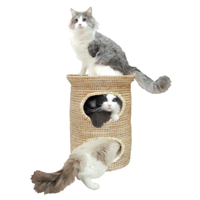 猫用ベッド ニャンともちぐら(猫ちぐら) にゃんション ペッツルート 使用風景