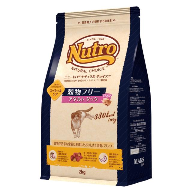 Nutro ナチュラルチョイス 穀物フリー猫 アダルトダック2kg 成猫用 キャットフード ニュートロ (1歳以上)