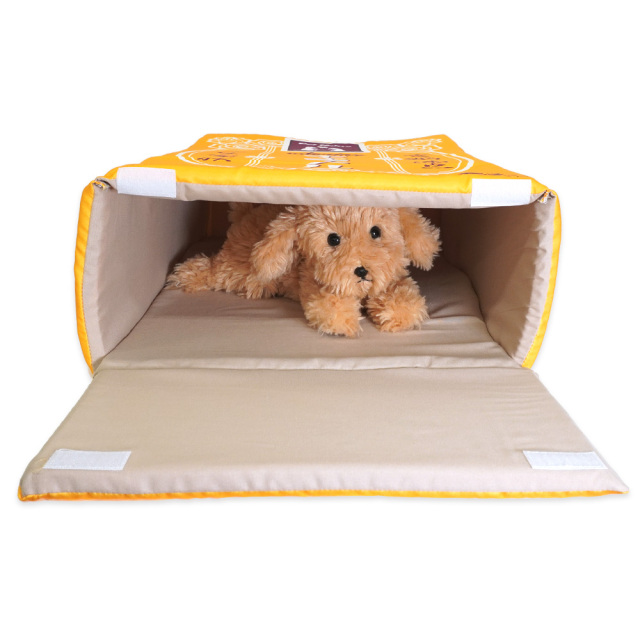 ペットベッド キャラメル 犬猫用 ペットハウス 引き出し型 おもしろ インスタ映え T&S 使用イメージ