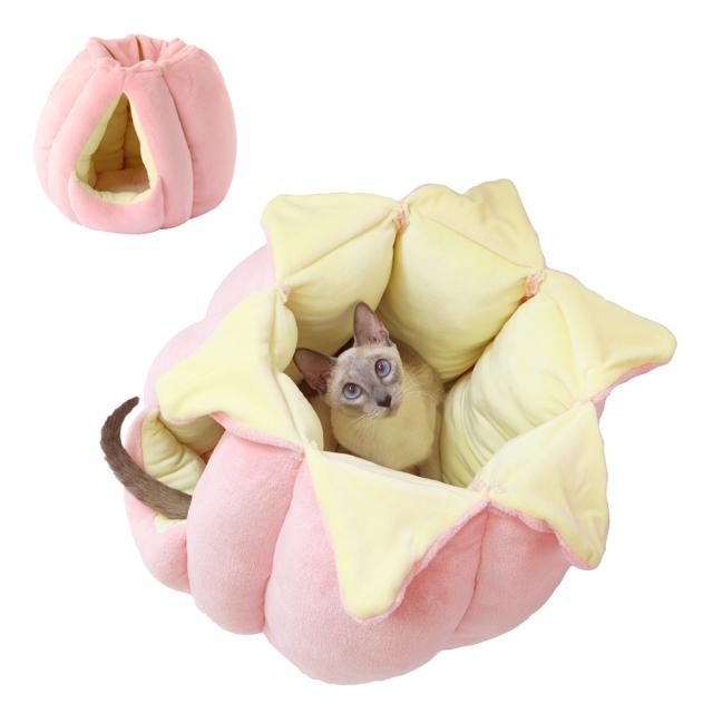 猫 キャットハウス ニャンともつぼみチューリップ ピンク ペッツルート