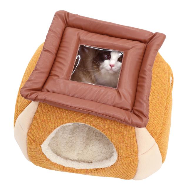 猫 キャットハウス ニャンとも見えちゃうおこた2020 にゃん角 ペッツルート 天窓から覗ける