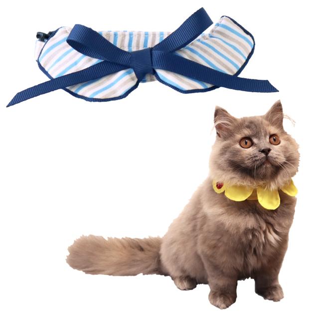 猫 首輪 にゃんカラー ミヌ ボーダーリボン ペッツルート
