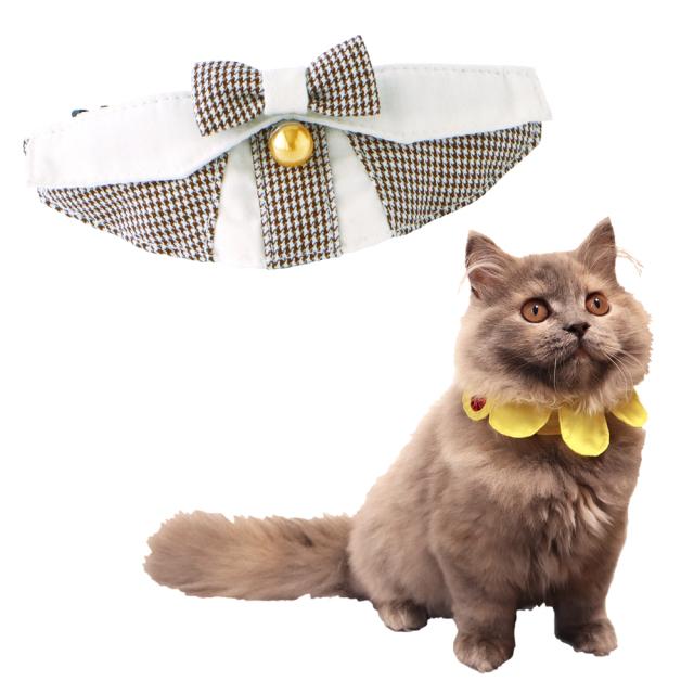 猫 首輪 にゃんカラー ミヌ チェックリボン ペッツルート