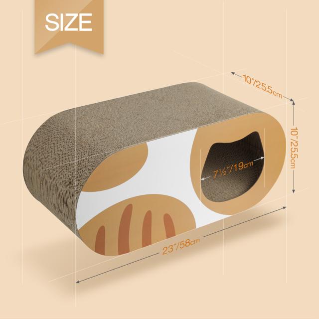 猫用 爪とぎダンボール猫ハウス トンネル型 HEBENA サイズ規格