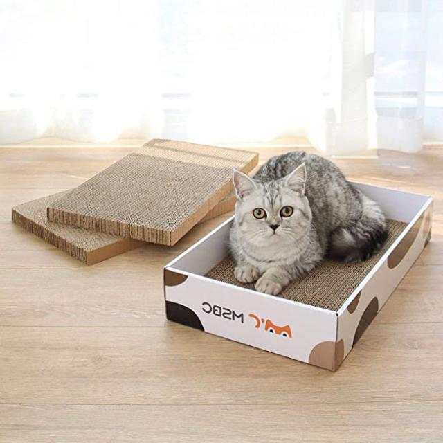 猫用 爪とぎダンボールBOX 3枚セット HEBENA
