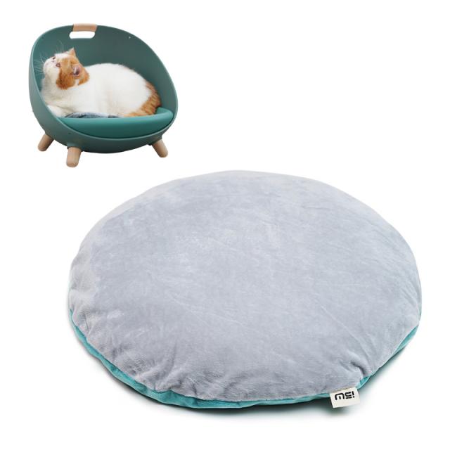 猫用ソファ 温度調整可能なペットのマルチベッド用クッション グリーン ネコ HEBENA