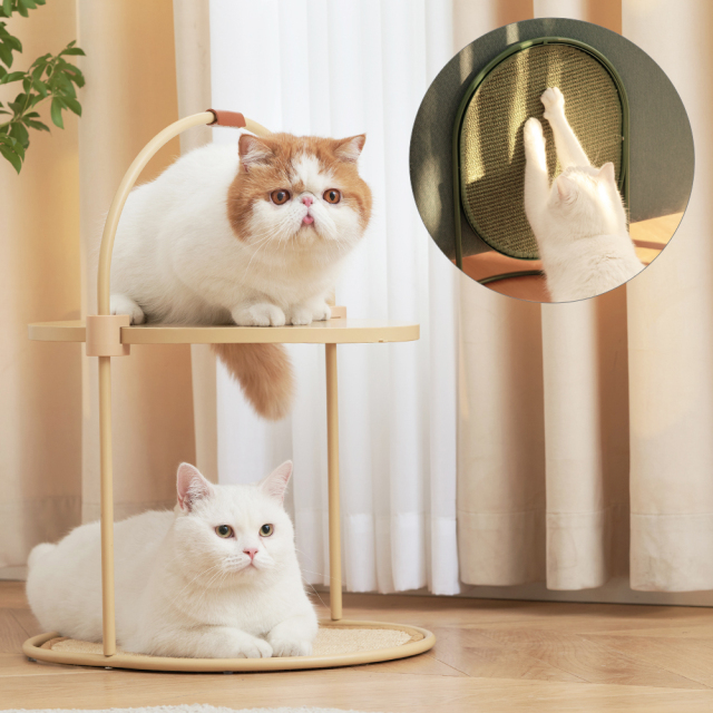 テーブル機能付き猫の爪とぎ ネコ HEBENA