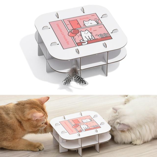 自動猫じゃらし ネコ用動くおもちゃ 組み立て 充電式 HEBENA