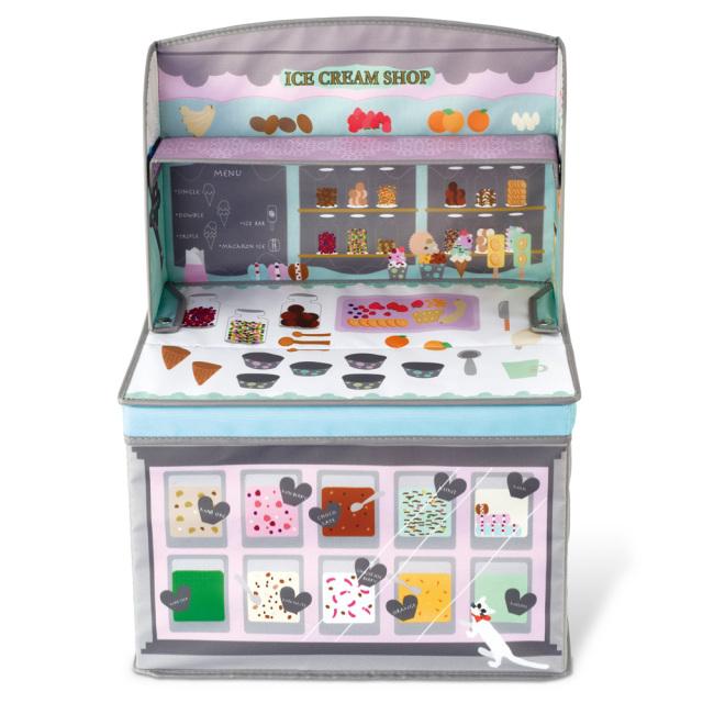 キッズ収納ボックス アイスクリームショップ ホッペル おままごと ごっこ遊び KNB88051 KISHIMA