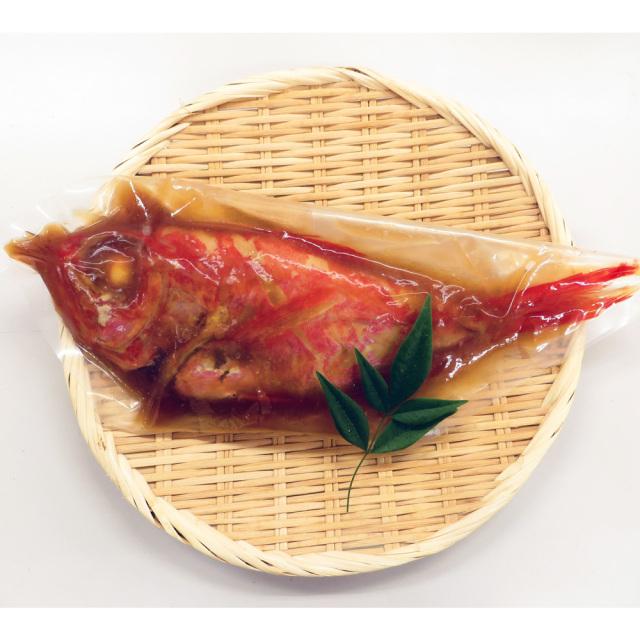 静岡県伊豆下田産 最高級地金目鯛の姿煮 お取り寄せ時の真空パック