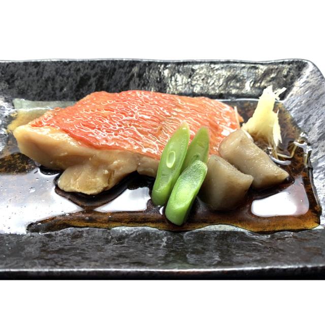 静岡県伊豆下田産 金目鯛の切り身 煮付け調理・盛り付け例