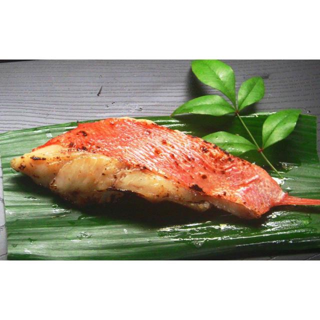 静岡県伊豆下田産 金目鯛の切り身 西京漬け調理・盛り付け例
