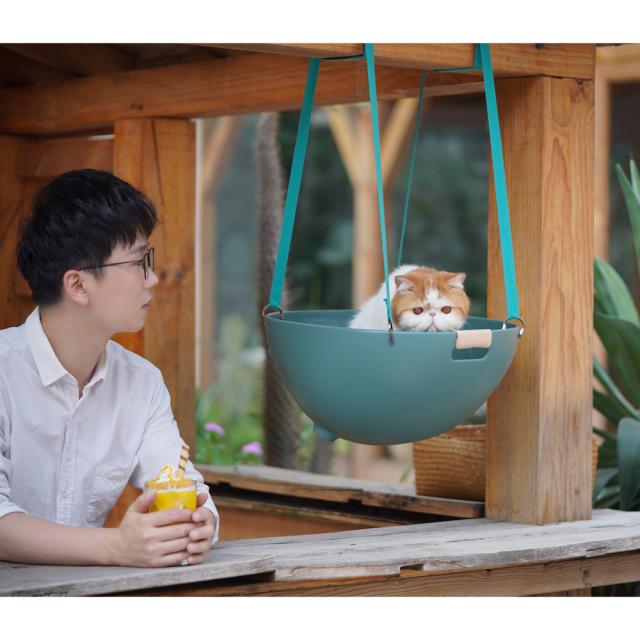 猫用ソファ 温度調整可能なペットのマルチベッド HEBENA オプションパーツで吊り下げ可能