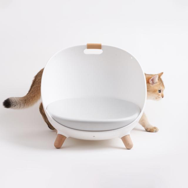 猫用ソファ 温度調整可能なペットのマルチベッド HEBENA ネコとのサイズ感