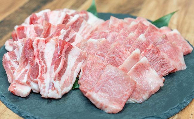 特選豊後牛バラ・大分県産米仕上げ豚焼肉セット