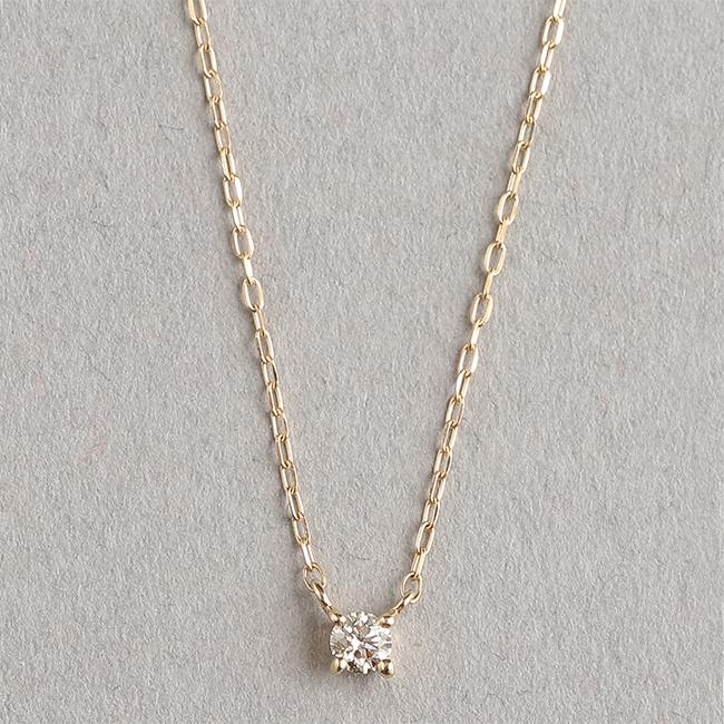 【Skin】ダイヤ 1粒 ネックレス