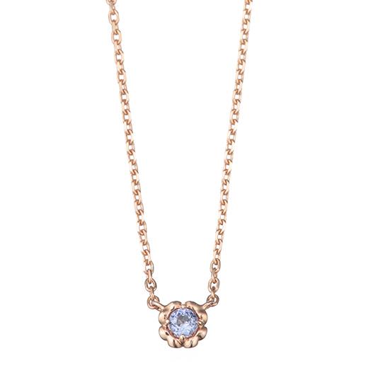 【12月誕生石】coeur ネックレス(タンザナイト)-優しく、美しく