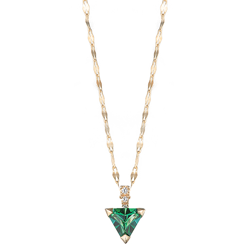【Natural】Triangle Green  Necklace