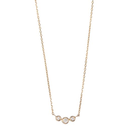 【Precious】ダイヤ ネックレス スリーストーン