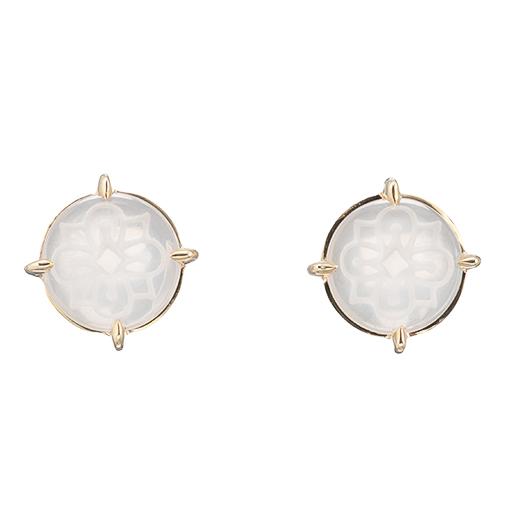 【Natural】 SeaGlass Pierced Earrings