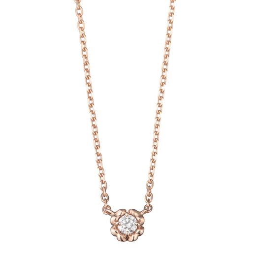 【4月誕生石】coeur ネックレス(ダイヤモンド)-絆を結ぶ