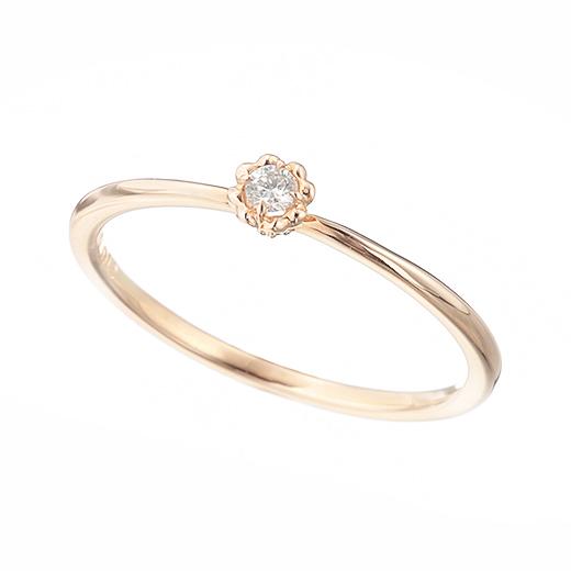 【4月誕生石】coeur リング(ダイヤモンド)-絆を結ぶ