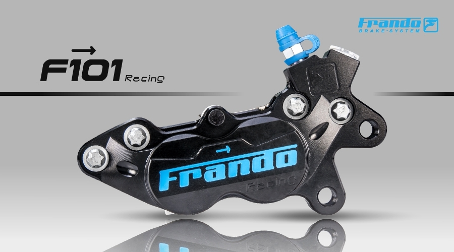 FRANDO F101R 4ポット・レーシングブレーキキャリパー BLK