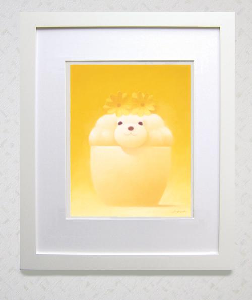 四つ切サイズ 新作『黄色い花飾り』