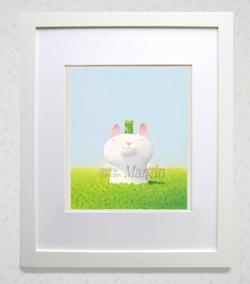 渡辺宏パステル画「緑色の午後」