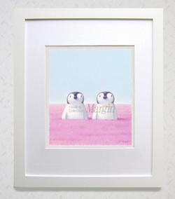 渡辺宏パステル画「桜色の時間」