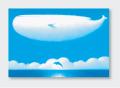 パステル画 ポストカード 大きな空の季節