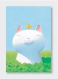 パステル画 ポストカード 緑色の午後