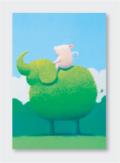 パステル画 ポストカード 天使のひととき
