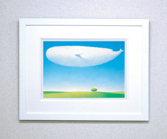 【ギフト・お祝にも最適!】染め版画(半切) 緑色の風