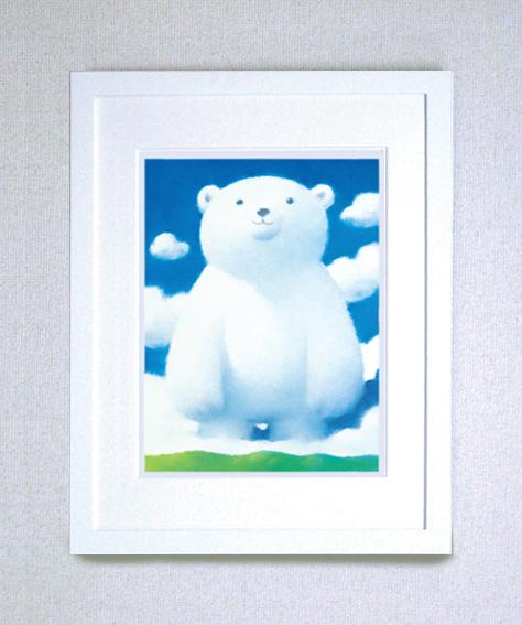 【ギフト・お祝にも最適!】染め版画(半切) 青空の笑顔
