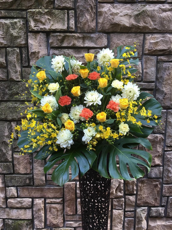 1274 Yバラ 高級ワイヤースタンド花