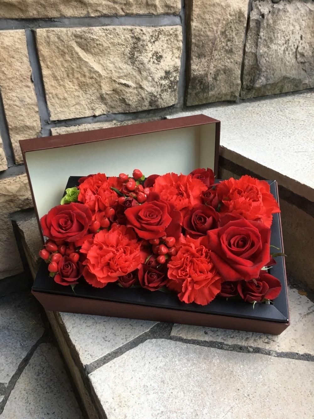 母の日 R Mデザイン BOX フラワー 3246