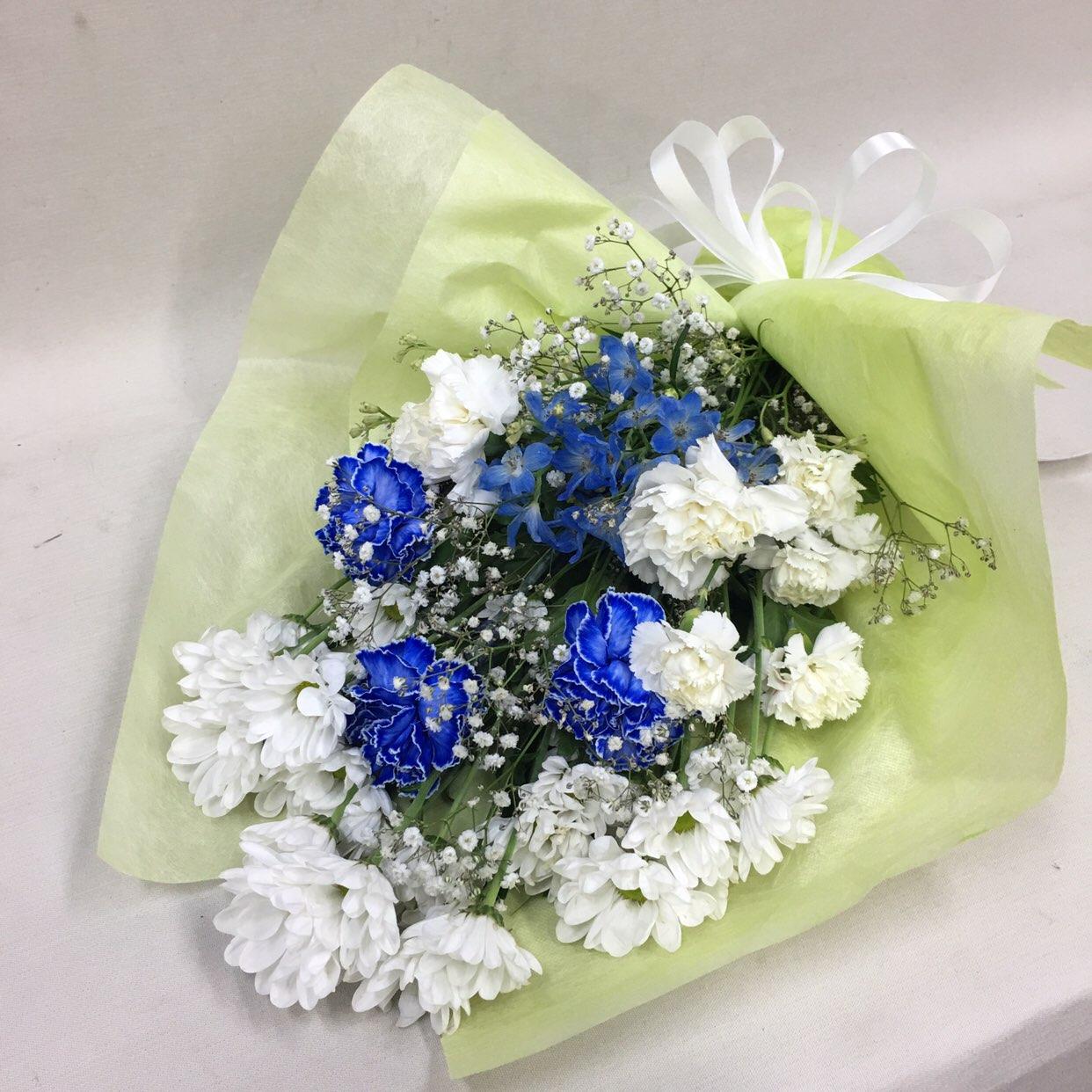 3311 【供花】 カーネーションの花束WB(H50) Cスタイル