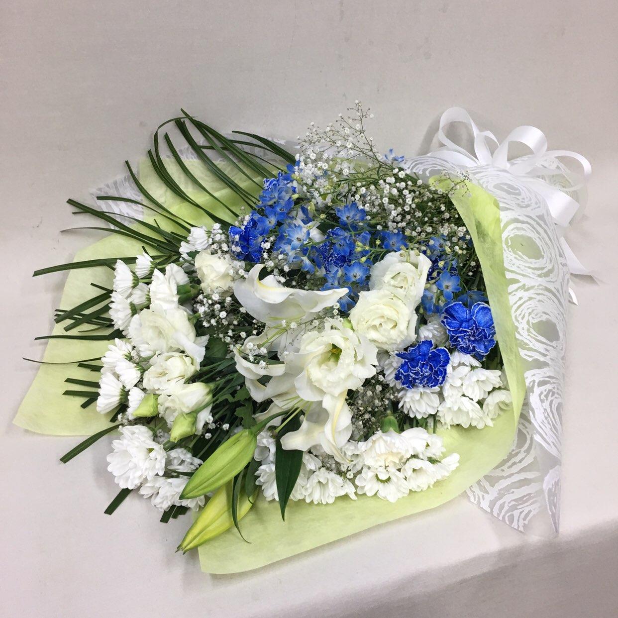 3324 【供花】ユリとカーネーションの花束WB( H85) Cスタイル