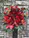 1275 Rバラ・グロリオサ 高級ワイヤースタンド花