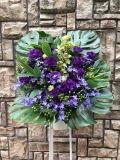 1533 紫 Mデザイン スタンド花