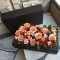 オレンジ Mデザイン BOX フラワー