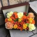 オレンジ×イエロー Mデザイン BOX フラワー