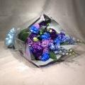 3441 ブルー×パープル Cスタイル 花束