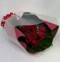 3466 豪華な赤バラ 花束
