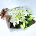 豪華なホワイト×グリーン 花束
