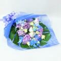 ブルー×パープル スタンダード花束