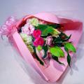 ピンク濃淡 Mデザイン 花束