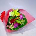 カラフルフラワー花束